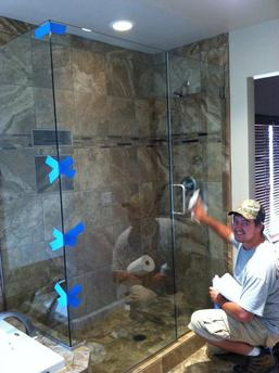 frameless shower door installation