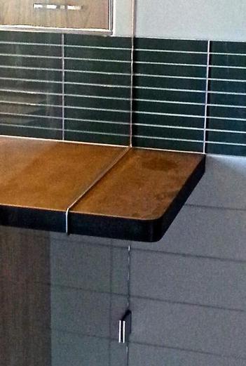 Frameless Glass Shower Door Custom Counter