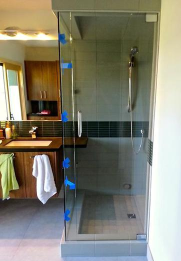 Frameless Glass Shower Door Custom Counter